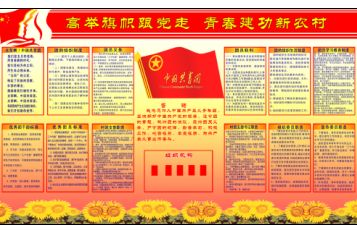 新农村组织生活规章制度展板模板.psd