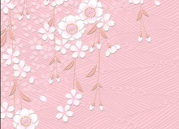 日式小花背景素材图片3
