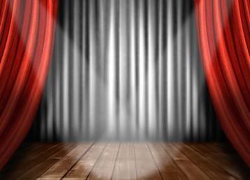 欧式舞台幕布红黄色高清晰图片设计素材