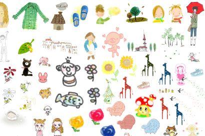 人物剪贴画图片大全-PS资源 PS资源 婚纱模板,儿童模板,台历模