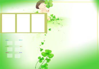 精美的韩国卡通儿童照片模板.psd