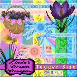 彩色的春天剪贴图片素材