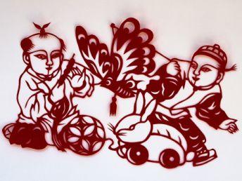 中国吉祥图案; 奥运福娃剪纸;