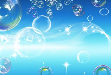 蓝色透明的泡泡背景素材.psd