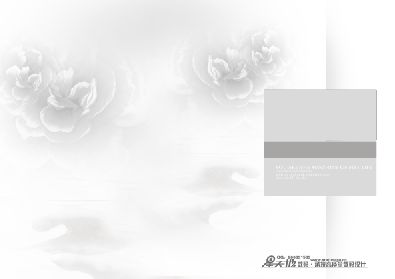 淡雅古典花朵背景婚纱照模板.psd