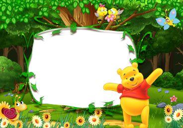 卡通森林儿童相框图片素材.png