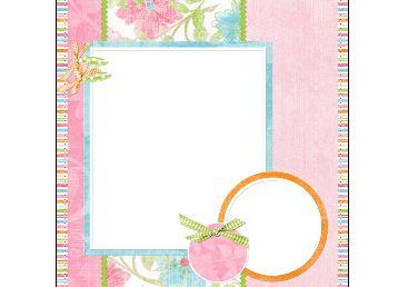 可爱粉色照片相框png素材1
