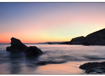黄昏下的海边风景素材图片