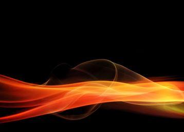 黑底燃烧的火焰烟雾素材高清图片下载4