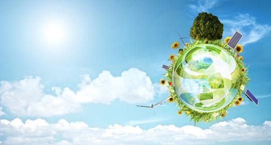 环保 中国 资源/高清蓝天绿色地球风能太阳能发电节约能源环保设计素材图片下载