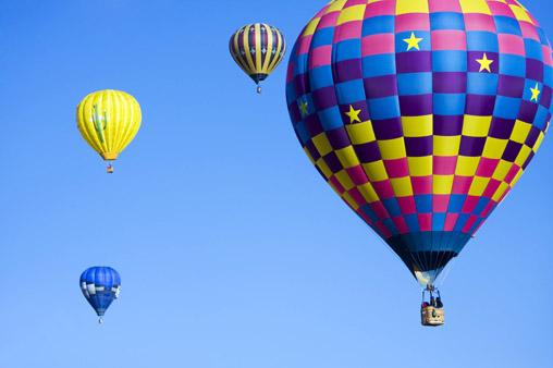 天空中的热气球风景素材高清图片下载 [中国photoshop