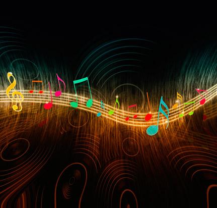 音乐元素彩色音符背景设计素材高清图片下载