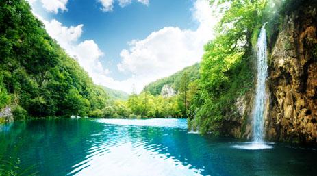 高清精美的山水瀑布风景图片素材下载1