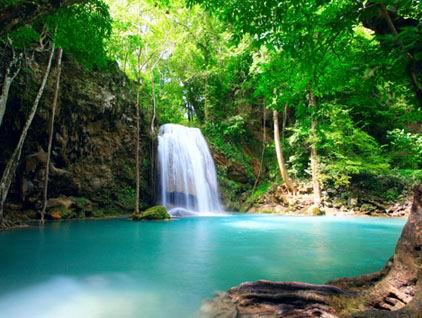 高清精美的山水瀑布风景图片素材下载5
