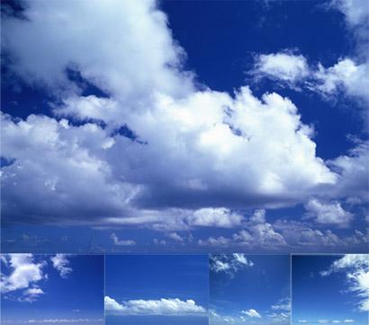 5张蓝天白云天空素材高清图片下载