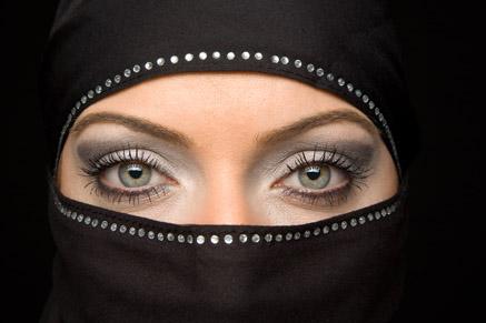 黑纱蒙面女人摄影素材高清图片下载