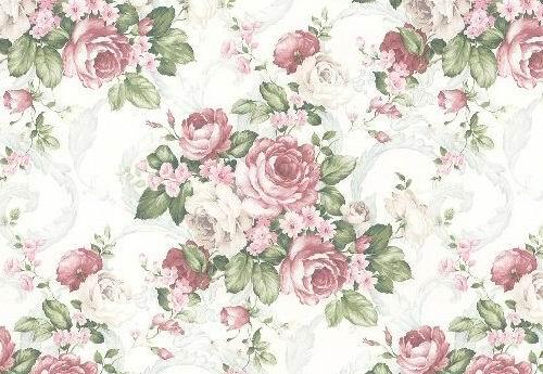 富贵牡丹花朵花纹墙纸背景素材高清图片下载