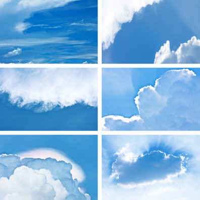 天空的光线蓝天白云素材高清图片下载