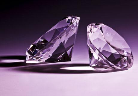 水晶钻石紫色背景