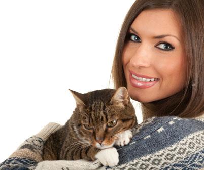 美女与猫素材高清图片免费下载