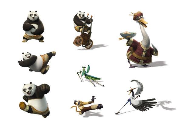 电影 功夫熊猫2>卡通人物角色形象高清图片素材下载集