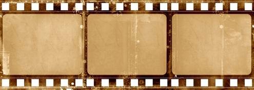 怀旧电影胶片/底片边框背景素材高清图片下载