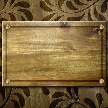 怀旧木刻花纹木板背景素材高清图片下载3