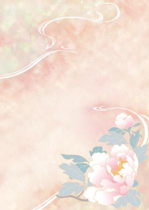 牡丹花日本风背景素材高清图片下载