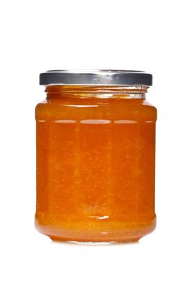 白背景透明玻璃瓶装蜂蜜高清图片素材下载
