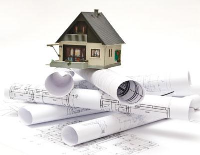 房子建筑施工图纸与3d模型图片高清素材下载3
