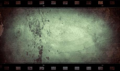 怀旧冷调电影胶片边框背景素材