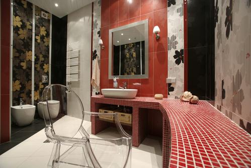 时尚艺术风格洗手间室内装修效果图片高清素材下载