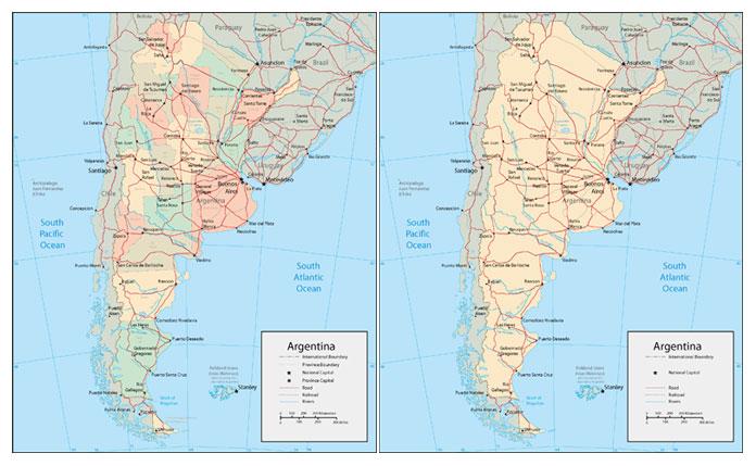 世界各国或地区地图之阿根廷地图高清素材图片下载