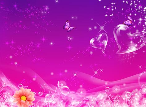 高清浪漫透明泡泡心形星光七夕情人節背景設計素材圖片下載
