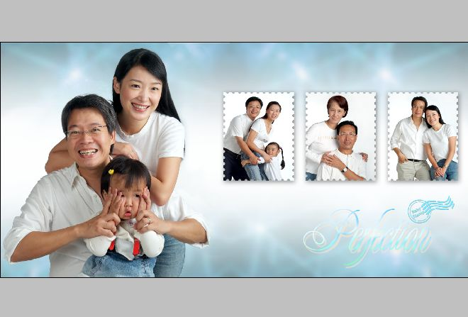 全家福照片背景圖; 免費全家福模板; ps模板空白素材;