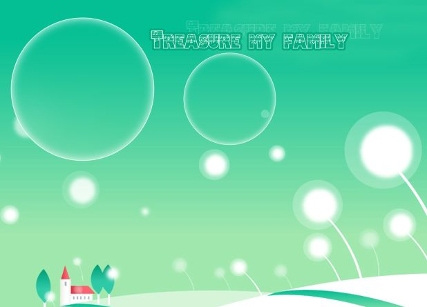 卡通宝贝儿童相册模板psd素材免费下载6