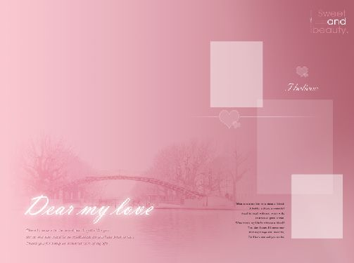 完美恋爱 2010年最新婚纱相册psd素材免费下载1