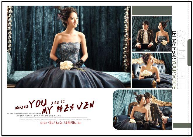 宫廷风格韩式婚纱模板大气奢华系列psd相册分层素材