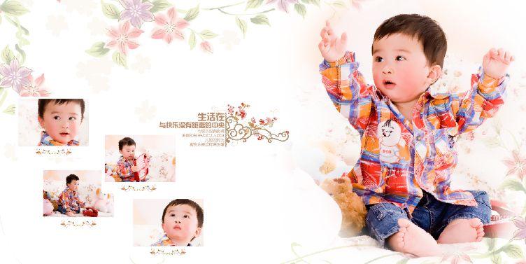 快乐宝宝经典10寸影楼宝宝样片模板psd素材下载二(10P)  -宝宝样