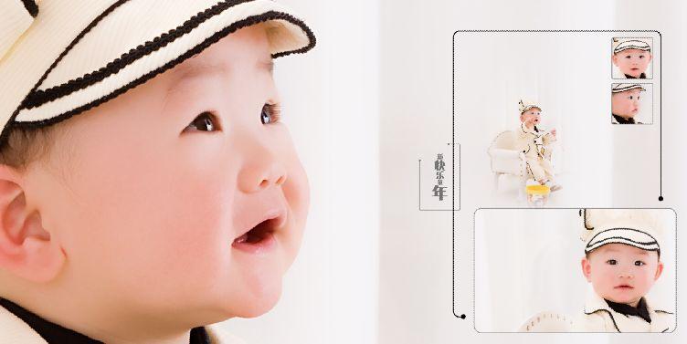 快乐宝宝经典10寸影楼宝宝样片模板psd素材下载三(10P)  -宝宝样