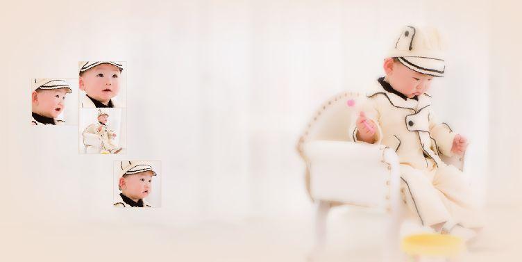 快乐宝宝经典10寸影楼宝宝样片模板psd素材下载五(10P)  -宝宝样