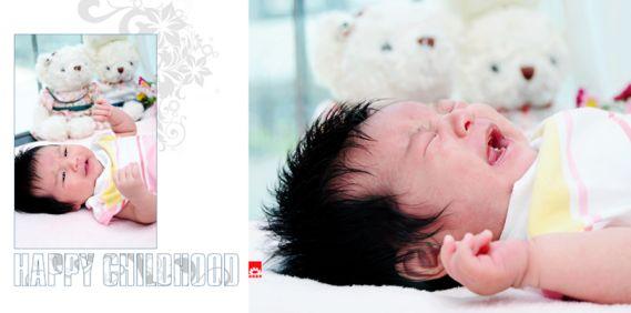 〈满月宝宝〉可爱小宝宝相册psd模板设计素材11张; 宝宝满月相册模板