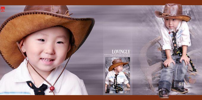 儿童样片阳光男孩系列宽幅影楼儿童相册模板psd素材四(共11P)  -