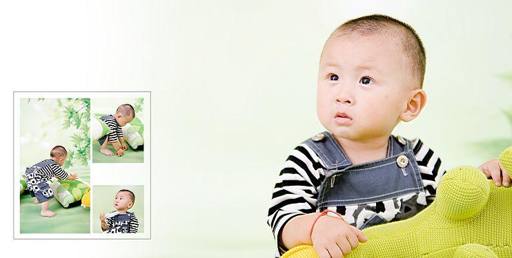 影楼宝宝样片精灵宝贝系列经典影楼儿童相册模板psd素材八(共10p))