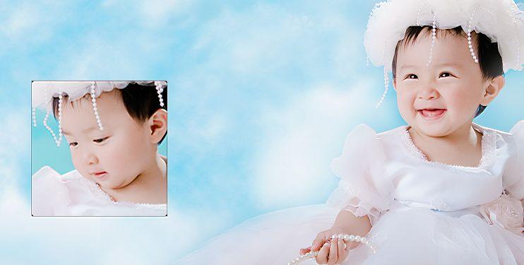 影楼宝宝样片精灵宝贝系列经典影楼儿童相册模板psd素材十(共10P