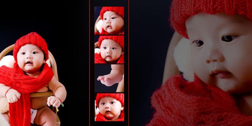 宝贝故事时尚影楼宝宝相册样片psd分层素材下载二(共10P)  -宝宝样