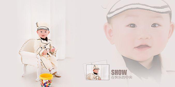 男宝宝模板psd素材亲亲我的宝贝系列影楼男宝宝相册模板下载10