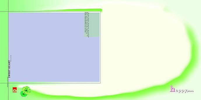 儿童模板psd素材春天的花朵系列影楼儿童相册模板下载
