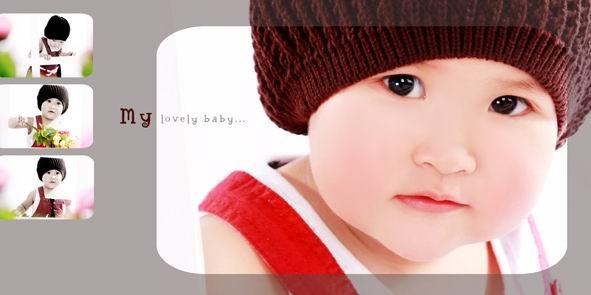 儿童相册模板psd素材我的可爱宝贝2012影楼儿童照片