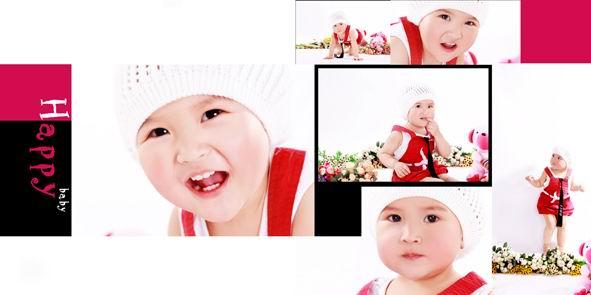 儿童相册模板psd素材我的可爱宝贝2012影楼儿童照片模板七